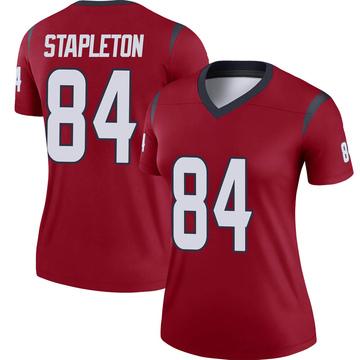 Women's Nike Houston Texans Dylan Stapleton Red Jersey - Legend
