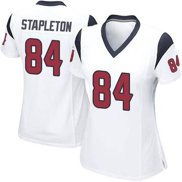 Women's Nike Houston Texans Dylan Stapleton White Jersey - Game