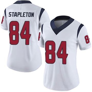 Women's Nike Houston Texans Dylan Stapleton White Vapor Untouchable Jersey - Limited