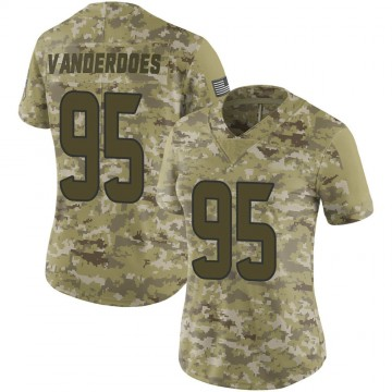 Women's Nike Houston Texans Eddie Vanderdoes Camo 2018 Salute to Service Jersey - Limited