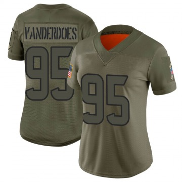 Women's Nike Houston Texans Eddie Vanderdoes Camo 2019 Salute to Service Jersey - Limited