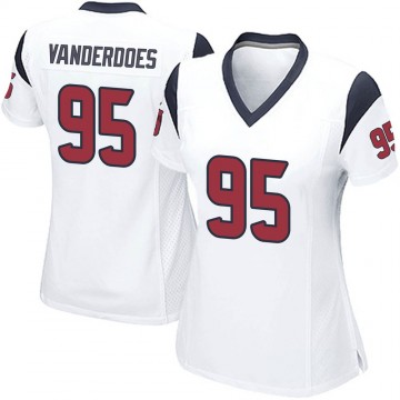 Women's Nike Houston Texans Eddie Vanderdoes White Jersey - Game