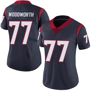 Women's Nike Houston Texans Elex Woodworth Navy Blue Team Color Vapor Untouchable Jersey - Limited