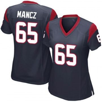 Women's Nike Houston Texans Greg Mancz Navy Blue Team Color Jersey - Game