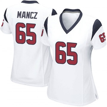 Women's Nike Houston Texans Greg Mancz White Jersey - Game