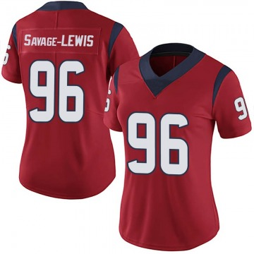 Women's Nike Houston Texans Ira Savage-Lewis Red Alternate Vapor Untouchable Jersey - Limited