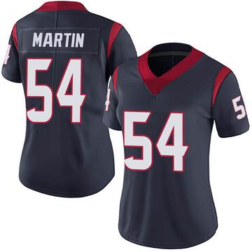 Women's Nike Houston Texans Jacob Martin Navy 100th Vapor Jersey - Limited