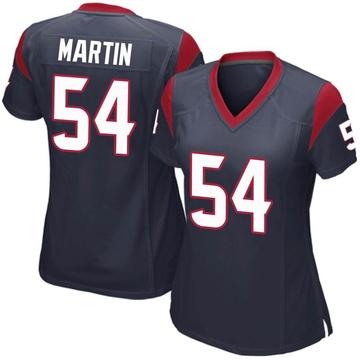 Women's Nike Houston Texans Jacob Martin Navy Blue Team Color Jersey - Game