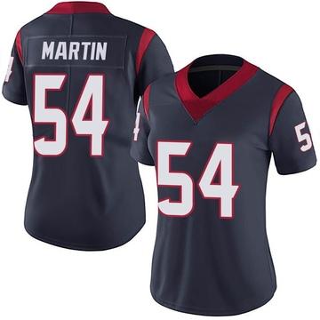 Women's Nike Houston Texans Jacob Martin Navy Blue Team Color Vapor Untouchable Jersey - Limited