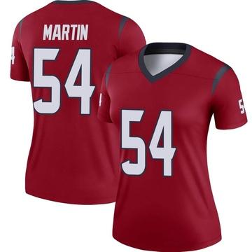 Women's Nike Houston Texans Jacob Martin Red Jersey - Legend