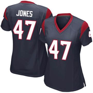 Women's Nike Houston Texans Jamir Jones Navy Blue Team Color Jersey - Game