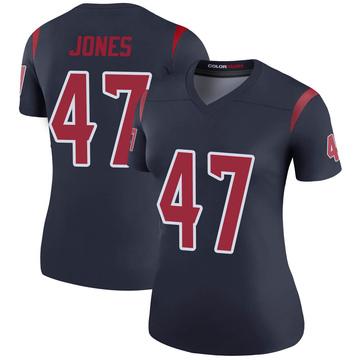 Women's Nike Houston Texans Jamir Jones Navy Color Rush Jersey - Legend