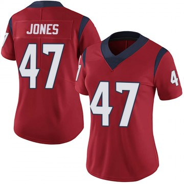 Women's Nike Houston Texans Jamir Jones Red Alternate Vapor Untouchable Jersey - Limited