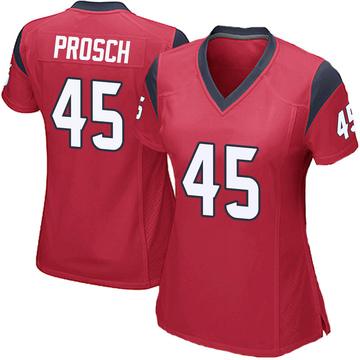 Women's Nike Houston Texans Jay Prosch Red Alternate Jersey - Game