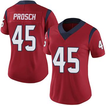 Women's Nike Houston Texans Jay Prosch Red Alternate Vapor Untouchable Jersey - Limited