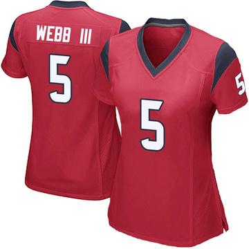 Women's Nike Houston Texans Joe Webb III Red Alternate Jersey - Game