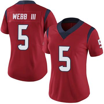 Women's Nike Houston Texans Joe Webb III Red Alternate Vapor Untouchable Jersey - Limited