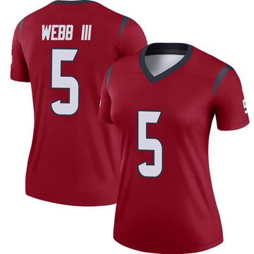 Women's Nike Houston Texans Joe Webb III Red Jersey - Legend