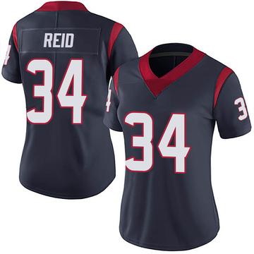 Women's Nike Houston Texans John Reid Navy 100th Vapor Jersey - Limited