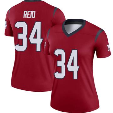 Women's Nike Houston Texans John Reid Red Jersey - Legend