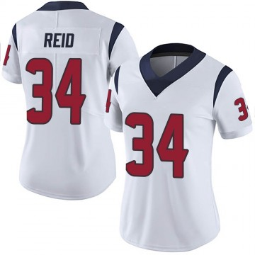 Women's Nike Houston Texans John Reid White Vapor Untouchable Jersey - Limited
