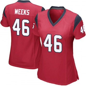 Women's Nike Houston Texans Jon Weeks Red Alternate Jersey - Game