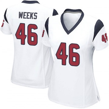 Women's Nike Houston Texans Jon Weeks White Jersey - Game