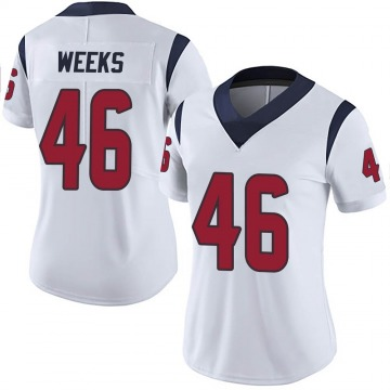 Women's Nike Houston Texans Jon Weeks White Vapor Untouchable Jersey - Limited