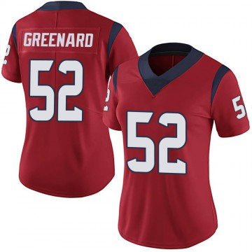 Women's Nike Houston Texans Jonathan Greenard Green Red Alternate Vapor Untouchable Jersey - Limited