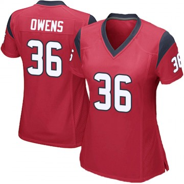 Women's Nike Houston Texans Jonathan Owens Red Alternate Jersey - Game