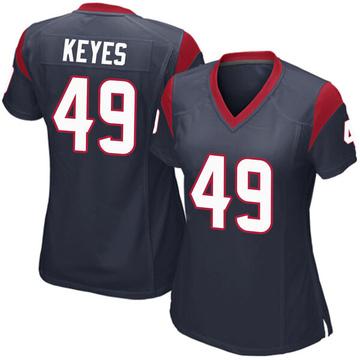 Women's Nike Houston Texans Josh Keyes Navy Blue Team Color Jersey - Game