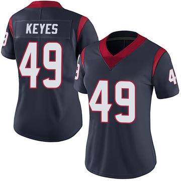 Women's Nike Houston Texans Josh Keyes Navy Blue Team Color Vapor Untouchable Jersey - Limited