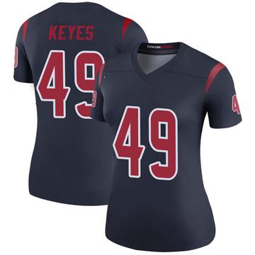 Women's Nike Houston Texans Josh Keyes Navy Color Rush Jersey - Legend