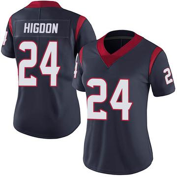 Women's Nike Houston Texans Karan Higdon Navy 100th Vapor Jersey - Limited