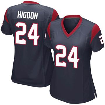 Women's Nike Houston Texans Karan Higdon Navy Blue Team Color Jersey - Game