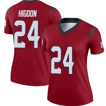 Women's Nike Houston Texans Karan Higdon Red Jersey - Legend