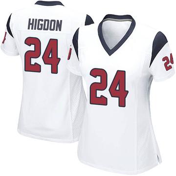 Women's Nike Houston Texans Karan Higdon White Jersey - Game
