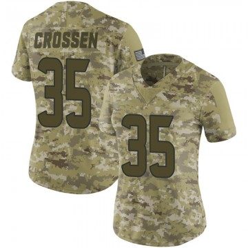 Women's Nike Houston Texans Keion Crossen Camo 2018 Salute to Service Jersey - Limited