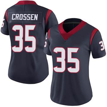 Women's Nike Houston Texans Keion Crossen Navy 100th Vapor Jersey - Limited