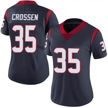 Women's Nike Houston Texans Keion Crossen Navy Blue Team Color Vapor Untouchable Jersey - Limited