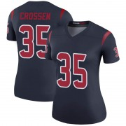 Women's Nike Houston Texans Keion Crossen Navy Color Rush Jersey - Legend