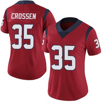 Women's Nike Houston Texans Keion Crossen Red Alternate Vapor Untouchable Jersey - Limited