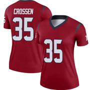 Women's Nike Houston Texans Keion Crossen Red Jersey - Legend