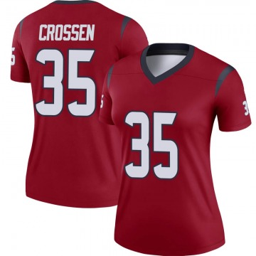 Women's Nike Houston Texans Keion Crossen Red Jersey - Legend
