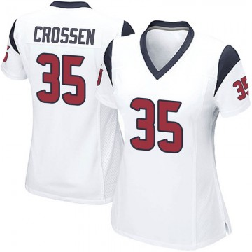 Women's Nike Houston Texans Keion Crossen White Jersey - Game