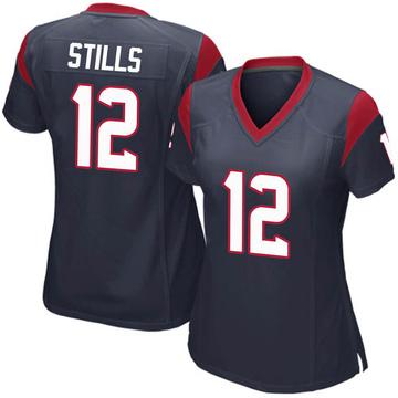 Women's Nike Houston Texans Kenny Stills Navy Blue Team Color Jersey - Game