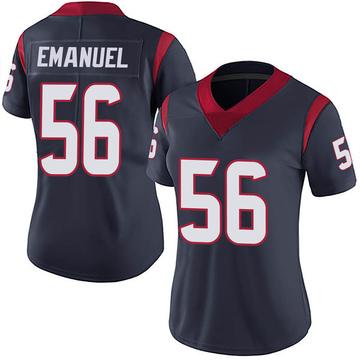 Women's Nike Houston Texans Kyle Emanuel Navy 100th Vapor Jersey - Limited