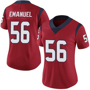 Women's Nike Houston Texans Kyle Emanuel Red Alternate Vapor Untouchable Jersey - Limited