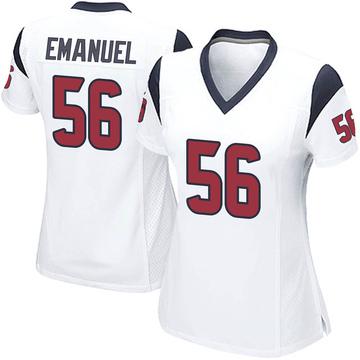 Women's Nike Houston Texans Kyle Emanuel White Jersey - Game