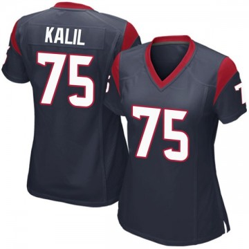 Women's Nike Houston Texans Matt Kalil Navy Blue Team Color Jersey - Game